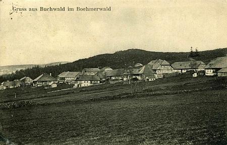 Bučina na pohlednici z přelomu 19. a 20. století
