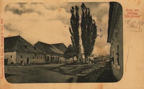 Další staré pohlednice Cetvin, ta horní také z ateliéru Josefa Seidela