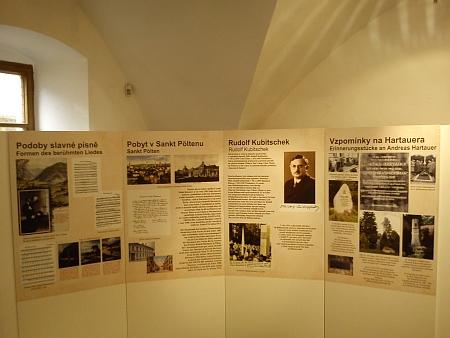 Z výstavy věnované Andreasi Hartauerovi v Prachatickém muzeu vroce 2013...