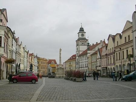 Náměstí v rodné Třeboni v roce 2012