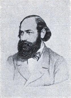 Na kresbě podle fotografie ze sbírky, jejímž majitelem byl Dr. Bruno von Frankl-Hochwart