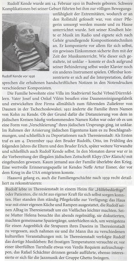 O Rudolfovi Kendeovi na stránkách krajanského čtvrtletníku