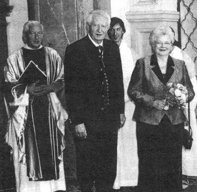 O své zlaté svatbě roku 2005 v Pasově s manželkou Thesi