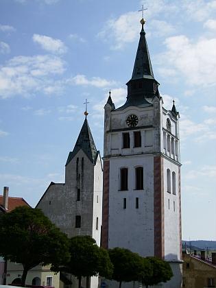 Vimperský kostel Navštívení Panny Marie aměstská zvonice