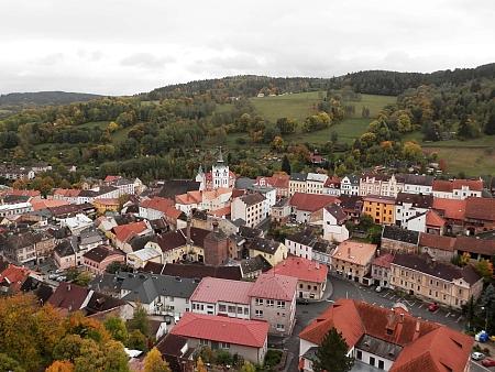 Pohled na Vimperk od zámku