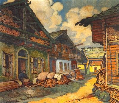 Volary na obraze českobudějovického malíře Jana Rafaela Schustera (1888-1981), rodáka z Březnice u Blatné