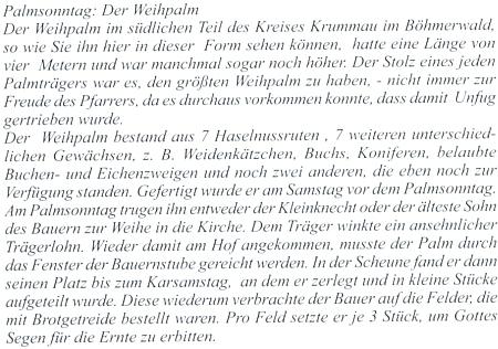 """""""Der Weihpalm"""" s jejím popisem, v podstatě shodným s textovou ukázkou v českém překladu"""