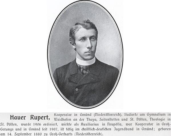 Podobenka a heslo v albu rakouského katolického kléru