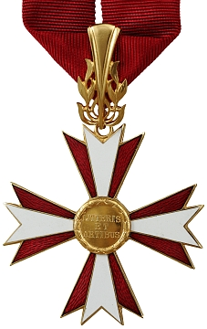Rakouský Čestný kříž pro vědy a umění, kterým byl oceněn v roce 1959