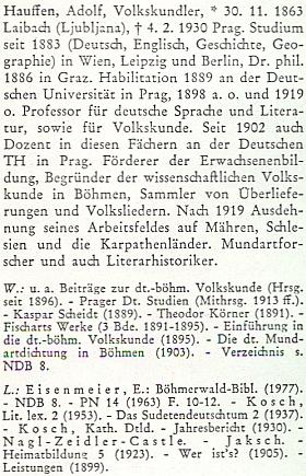 Jeho heslo v biografickém slovníku k dějinám českých zemí