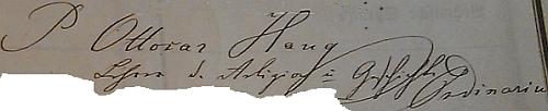 Jeho podpis v záznamech českobudějovického německého gymnázia