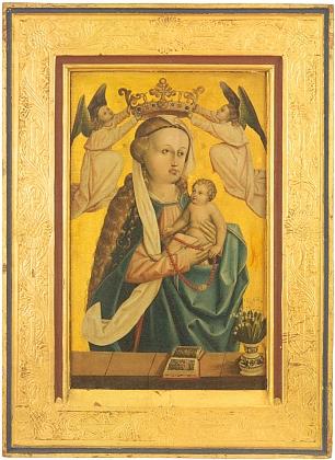 Madona s konvalinkami na obraze, který byl součástí hlavního oltáře kostela sv. Jiljí v Dolním Dvořišti a který popsal Jiří Franc v katalogu česko-rakouské zemské výstavy s expozicí i ve Vyšším Brodě roku 2013