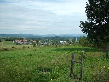 Pohled na Dolní Dvořiště od západu