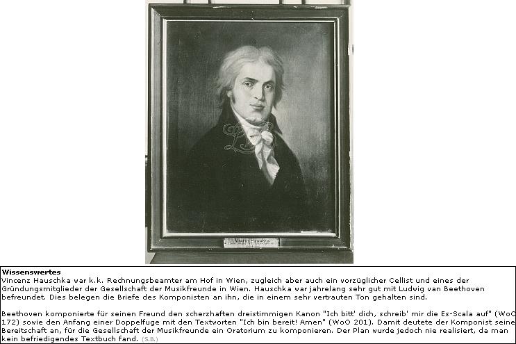 Snímek jeho portrétní olejomalby od neznámého autora je součástí fondu Beethovena muzea v Bonnu