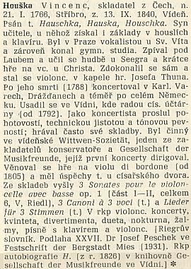 Takto se o něm píše v československém hudebním slovníku