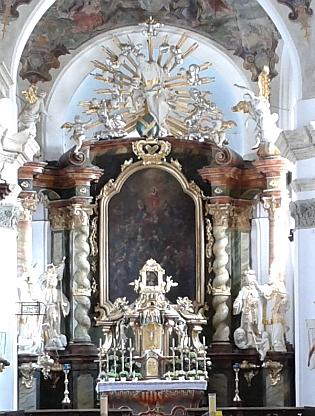 S dobou blízkou jeho narození je spojena legenda o milostném obrazu Panny Marie Bolestné na na oltáři stříbrského kostela