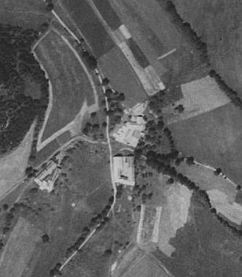 Lopatné na leteckých snímcích z let 1952 a 2008