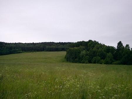 Odtud bývala vidět stavení v Lopatném...