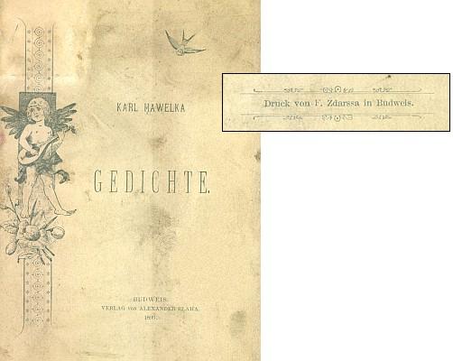 Obálka (1893) sbírky jeho veršů