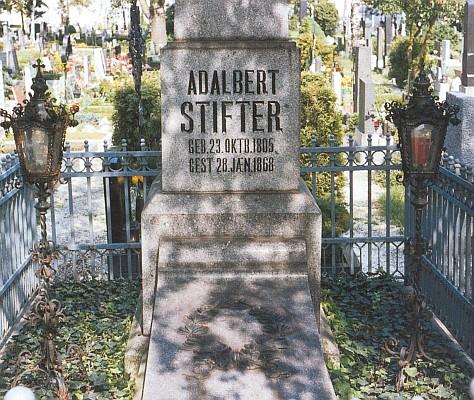 Stifterův hrob na hřbitově sv. Barbory v Linci