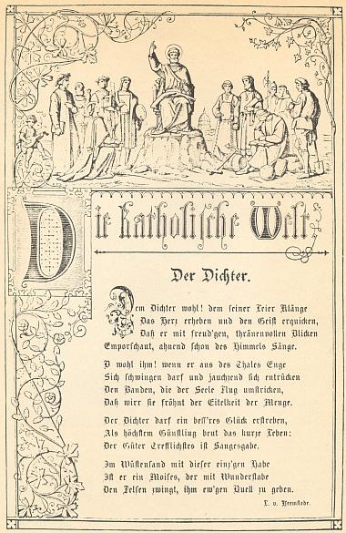 """Jiná z Tepeho básní, otištěných v časopise, který kdysi pod pseudonymem """"von Heemstede"""" řídil"""