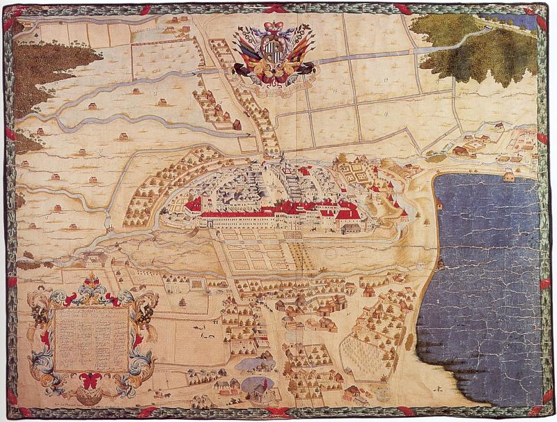 Plán města Třeboně z roku 1699