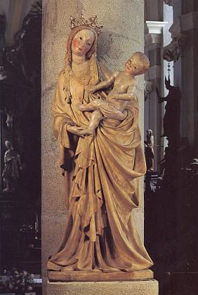 Třeboňská Madona z doby kolem roku1400