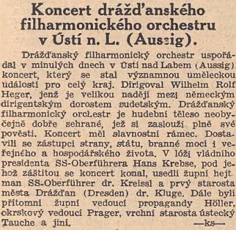"""Pražské protektorátní Národní listy ho nazývají """"velikou nadějí mezi německým dirigentským dorostem sudetským"""""""