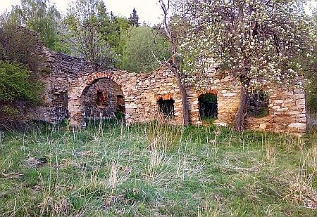 Ruina statku v někdejším Veselí
