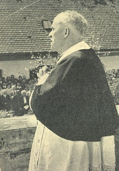 Při slavnostním kázání na Maria Hilf u Pasova 1954