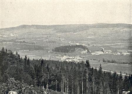 Někdejší Ferchenhaid (nahoře vlevo je vidět i Nový Svět) na pohlednici Josefa Seidela