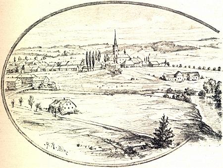Frymburk na jeho ilustraci ze Stifterova životopisu