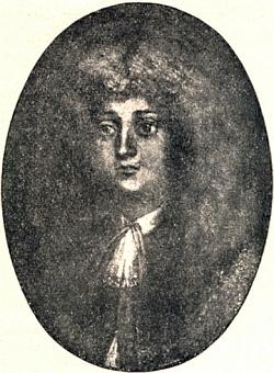 Reprodukce Stifterovy olejomalby, zachycující jeho představu hlavního hrdiny románu Witiko, je rovněž jednou zilustrací Heinovy knihy