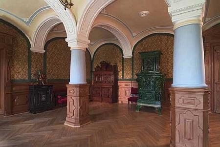 Bývalá jídelna na zámku Klenová