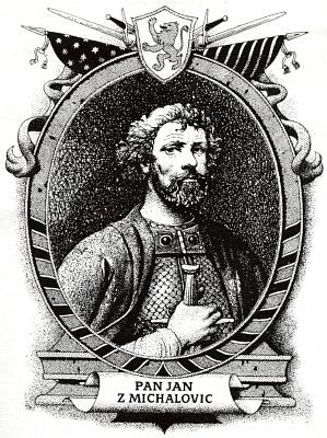 Dvě ilustrace Ervína Urbana z knihy Alexeje Pludka Rytířská jízda Jana z Michalovi