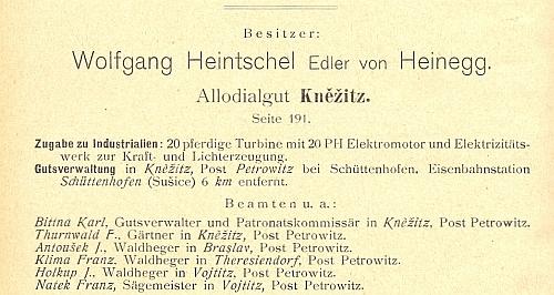 Tady vidíme na srovnání dvou ročníků schematismu velkostatků v království českém, jak se rodový majetek v Čechách zmenšil mezi roky 1902 a 1910