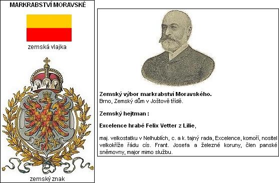 Markrabství moravské a jeho zemský hejtman Felix Vetter z Lilie