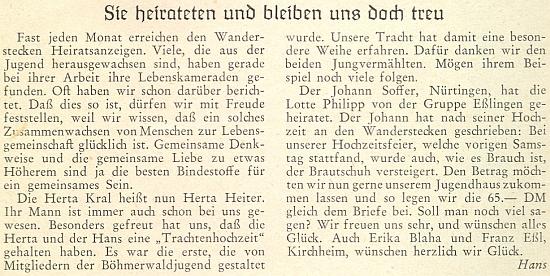 """V článku """"I po svatbě nám zůstali věrni"""" se tu o ní rozepsal Erich Hans"""