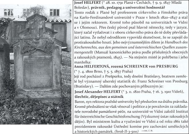 Jeho hrob na Olšanských hřbitovech v Praze
