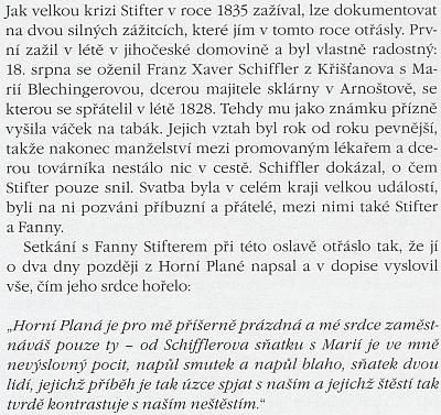 O Stifterově návštěvě Arnoštova se takto rozepsal  Peter Becher ve své knize o něm