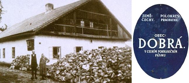"""Chalupa v Dobré na Šumavě čp. 19(30), usedlostním jménem """"Pius Seppn"""", jejímž je majitelem"""