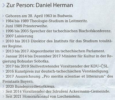 Zatím poslední položkou v jeho životopisném přehledu na stránkách ústředního krajanského listu je funkce konorárního konzula Lichtejnštejnského knížectví se sídlem v Brně