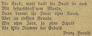 Jeho báseň v českobudějovickém německém listě