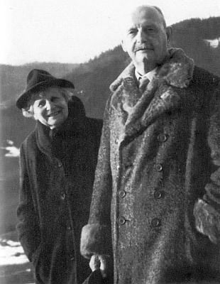 Rodiče v Bergenu roku 1960