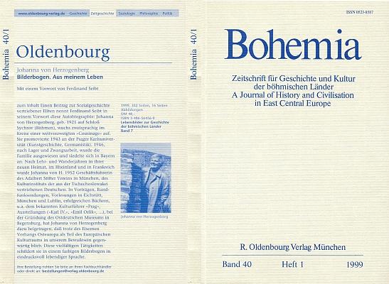 """Inzerát (1999) na její knihu vzpomínek na obálce časopisu """"pro dějiny a kulturu českých zemí"""", vydávaného nakladatelstvím Oldenbourg (stejně jako inzerovaný titul)"""