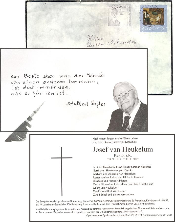 Obálka smutečního dopisu a parte