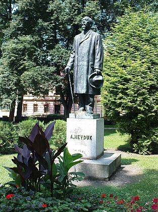 Jeho pomník v píseckém parku