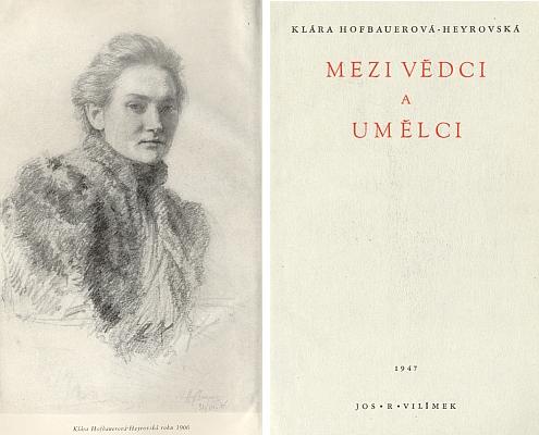 Frontispis a titulní list pamětí rodiny s portrétem jejich autorky