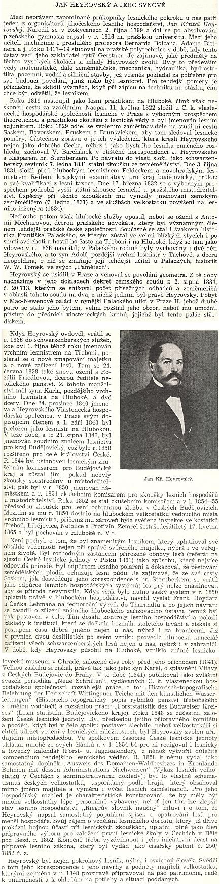 Kapitola o něm a jeho synech z knihy vydané v roce 1958 Československou akademií zemědělských věd