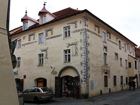 Dům čp. 119 v prachatické Poštovní ulici, ve kterém strávila dětství